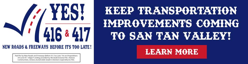 Keep Transportation Improvements Coming to San Tan Valley