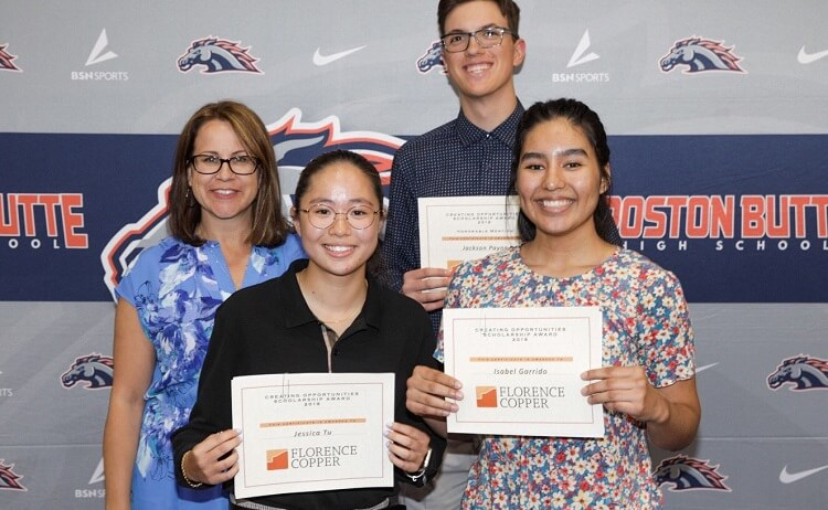 Florence Copper Awards $4,000 in Scholarships to FUSD Seniors