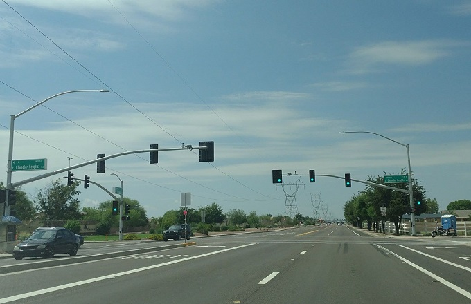 Traffic Light Activated at Gantzel and Chandler Heights