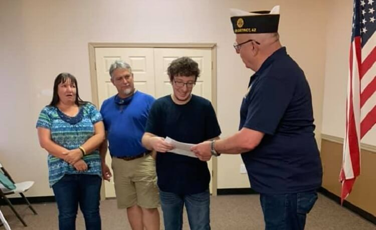 Joe Foss American Legion Awards Scholarship to San Tan Valley Student