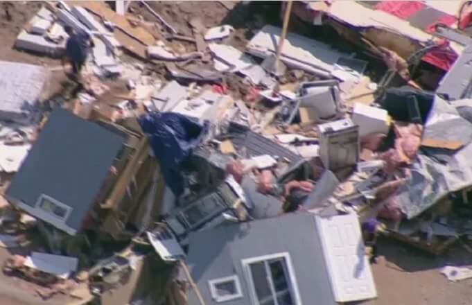 Microburst in Florence rips mobile home off foundation, tosses it into field