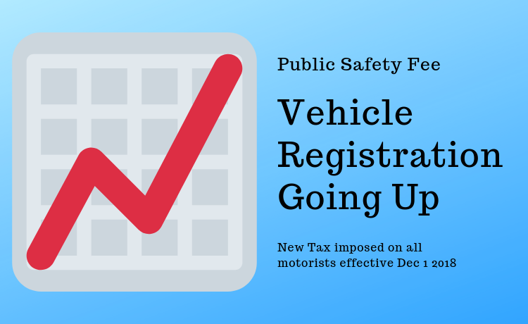 Arizona Motorists will be paying more to register their vehicles starting Dec 1